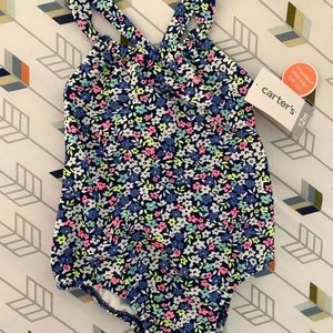 NWT Carter's Floral One Piece Swimsuit